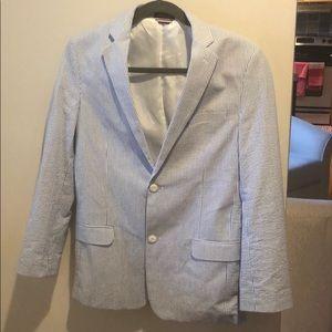 Boys size 18 Tommy Hilfiger seersucker sport coat